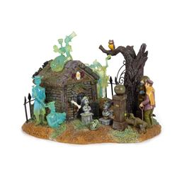 Haunted Mansion Light-Up Graveyard Model.