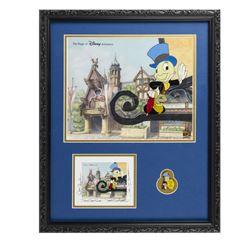 Jiminy Cricket Limited Edition Framed Cel Set.