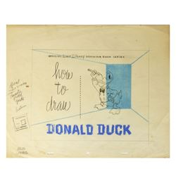 """How to Draw Donald Duck"" Cover Concept Artwork."