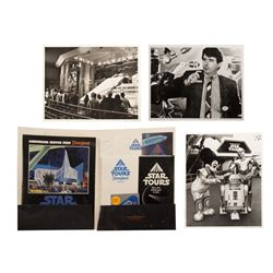 Collection of Star Tours Grand Opening Items.