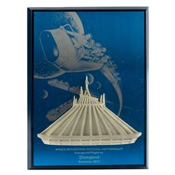 Space Mountain Inaugural Flight Plaque.