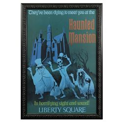 Haunted Mansion WDW Disney Gallery Attraction Poster.