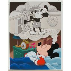 Original Mickey Mouse 61st Birthday Painting.