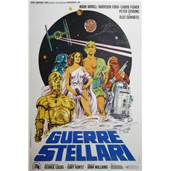 Star Wars Italian Two Sheet Poster.