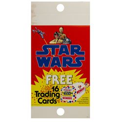 Star Wars Trading Cards Supermarket Sign.
