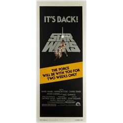 Star Wars Re-Release Insert Poster.