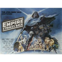 The Empire Strikes Back Style B British Quad Poster.