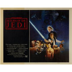 Original Return of the Jedi Style B Half Sheet Poster.