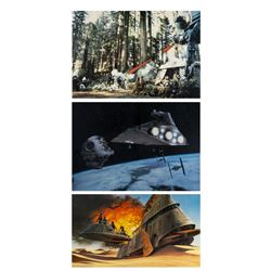 Set of (3) Return of the Jedi Large Lobby Cards.