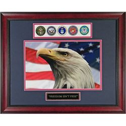 Framed Picture of  Freedom Isn't Free Framed Forces