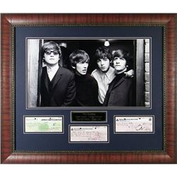 Framed Checks Signed By The Beatles