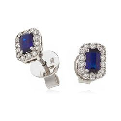 Elegant Sapphire and Diamond Earrings For Day and Evening Wear