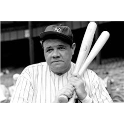 Framed picture of Babe Ruth-Lombardi -Jordan