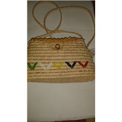 Handmade  Female Straw Pocketbook