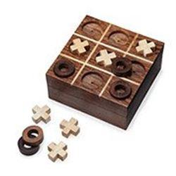 Handmade Rosewood Tic Tac ToeBoard Game
