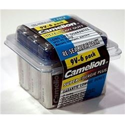 6 Pack 9 Volt Heavy Duty Batteries