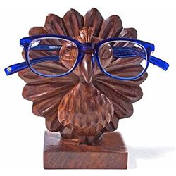 Handmade Wood Peacock Eyeglass Holder