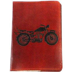Tan Brown Leather Passport Cover