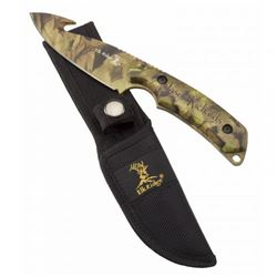 Personalized Laser Skinning Knife Camo Fixed Blade