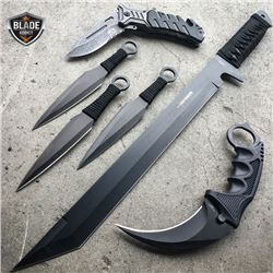 6 Piece Black Tactical Set