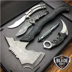Limited Edition  5 Piece Stonewashed Hunting Tactical Survival Set