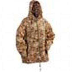 Classic Safari Digital Camo Rain Jacket in Size XL-2 X With Storage Pouch