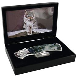 Decorative Wolf Art  Knife With Gift Box