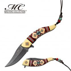 Spring Assisted Tribal Knife