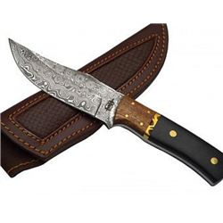 Custom Hand Made Fixed Blade Knife and Leather Sheath