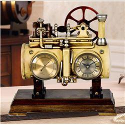 Vintage Steam Engine Table Clock