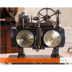 Vintage Steam Engine Table Clock