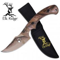 Camouflauge Skinning Blade Elk Ridge Fixed Blade