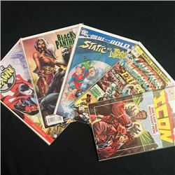 Lot of 5 Vintage African-American Comic such as Black Panther-Moon girl-Black Lightning etc