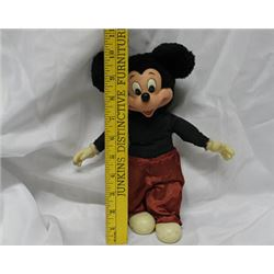 "10"" 1981 Mickey Mouse Stuff Doll"