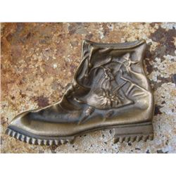 Decorative Bronze Hiking Boot  Vintage 1960