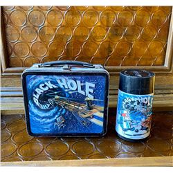 1979  Walt Disney Vintage Black Hole Metal Lunchbox and Thermo