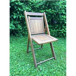 Antique Wooden Folding Chair /1940's