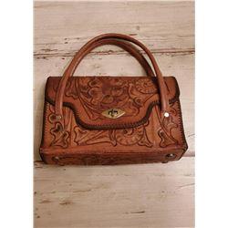 Vintage Handtooled Leather Purse 1960