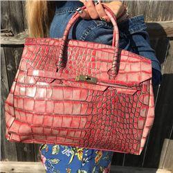 Alligator Embossed Pink Preston and York Handbag from early 2000