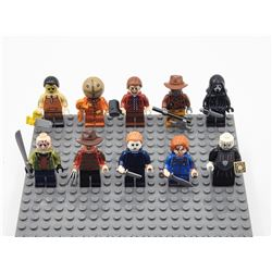 Horror Movie Minifigs Pre Assembled Custom 10 Figure Set