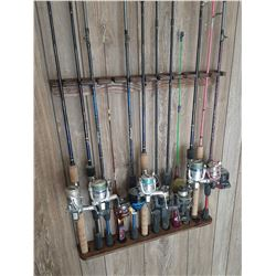 Wooden Fishing Rod Holder and Rack