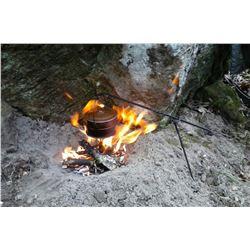 2 Piece Minimal Camp Side Cook Set/ Old West Cooking