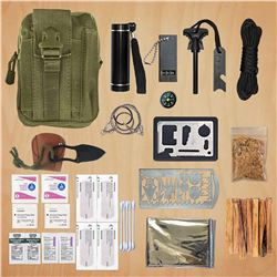 Survival Emergency Fire Starting  Kit For the Wilderness With Backpack