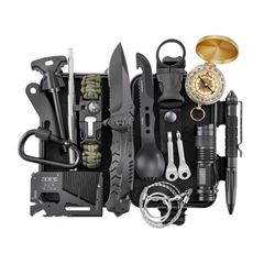 17 Piece Survival Gear with Carrying Case