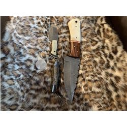3 Piece Bundle Handmade Real Damascus Steel Knives