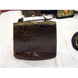 Beautiful Vintage Alligator Handbag
