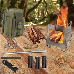 Wood Burning Stove For Outdoor Emergencies/ Survival With Compass and  Knife