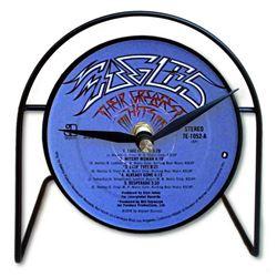 Eagle Memorbilia Vintage Album Label Desk Clock