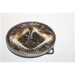 Rattlesnake Western Style Head Belt Buckle