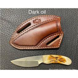 "Handmade Pancake Knife Sheath with 6"" Knife/Crossdraw Holster"
